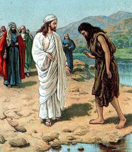 John the Baptist finally meets the Messiah