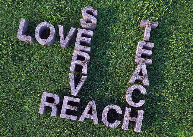 love serve reach teach
