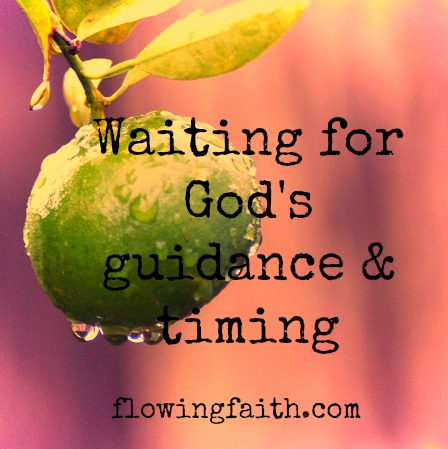 Waiting for God's guidance and timing