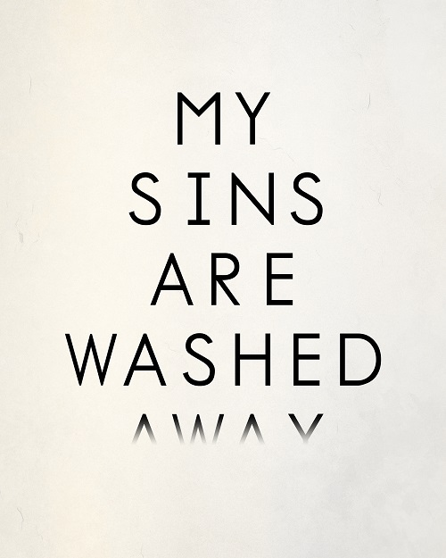 My Sins Are Washed Away