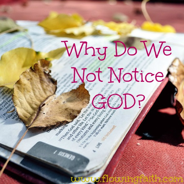Why do we not notice God?