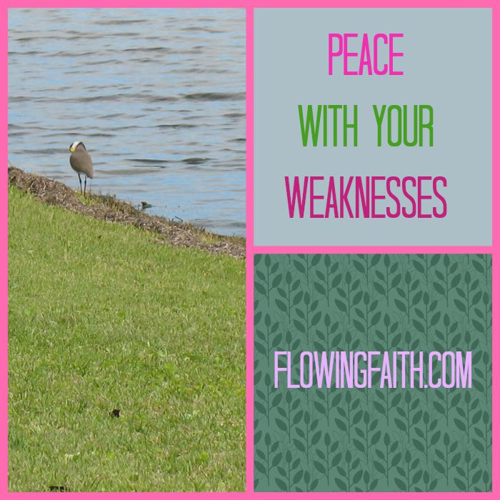 peace with your weaknesses