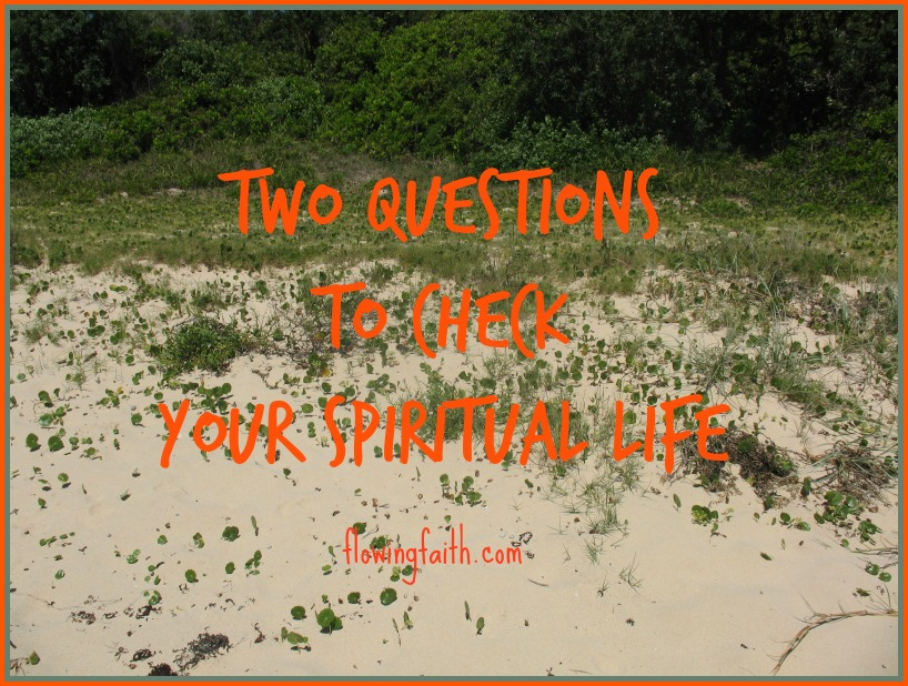 Two questions to check your spiritual life