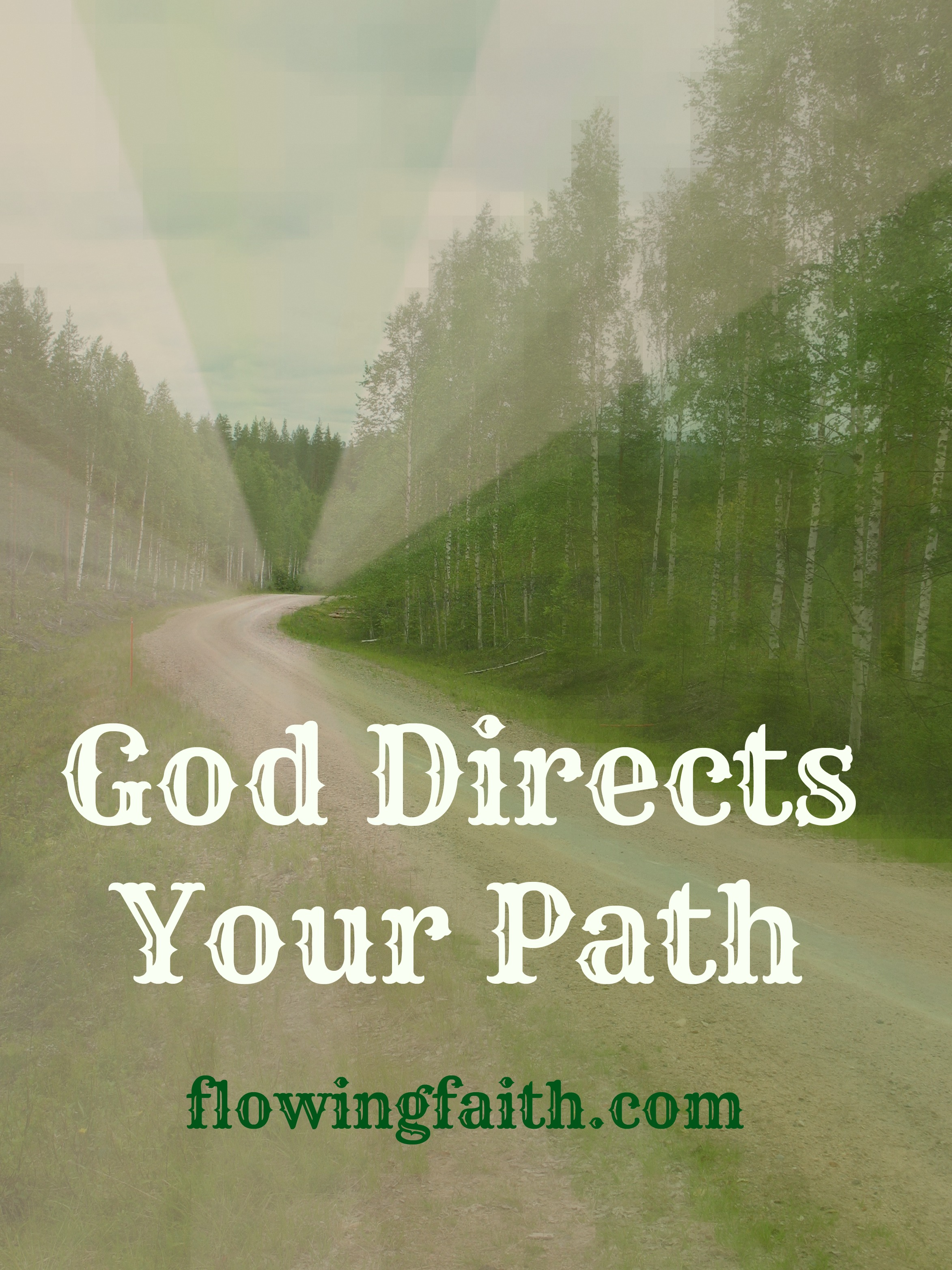 God directs your path