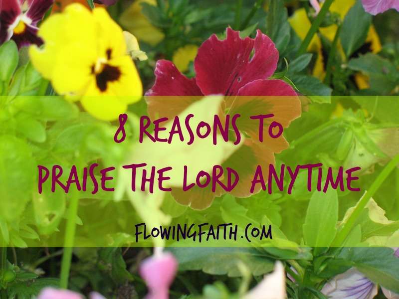 8 Reasons To Praise The Lord Anytime