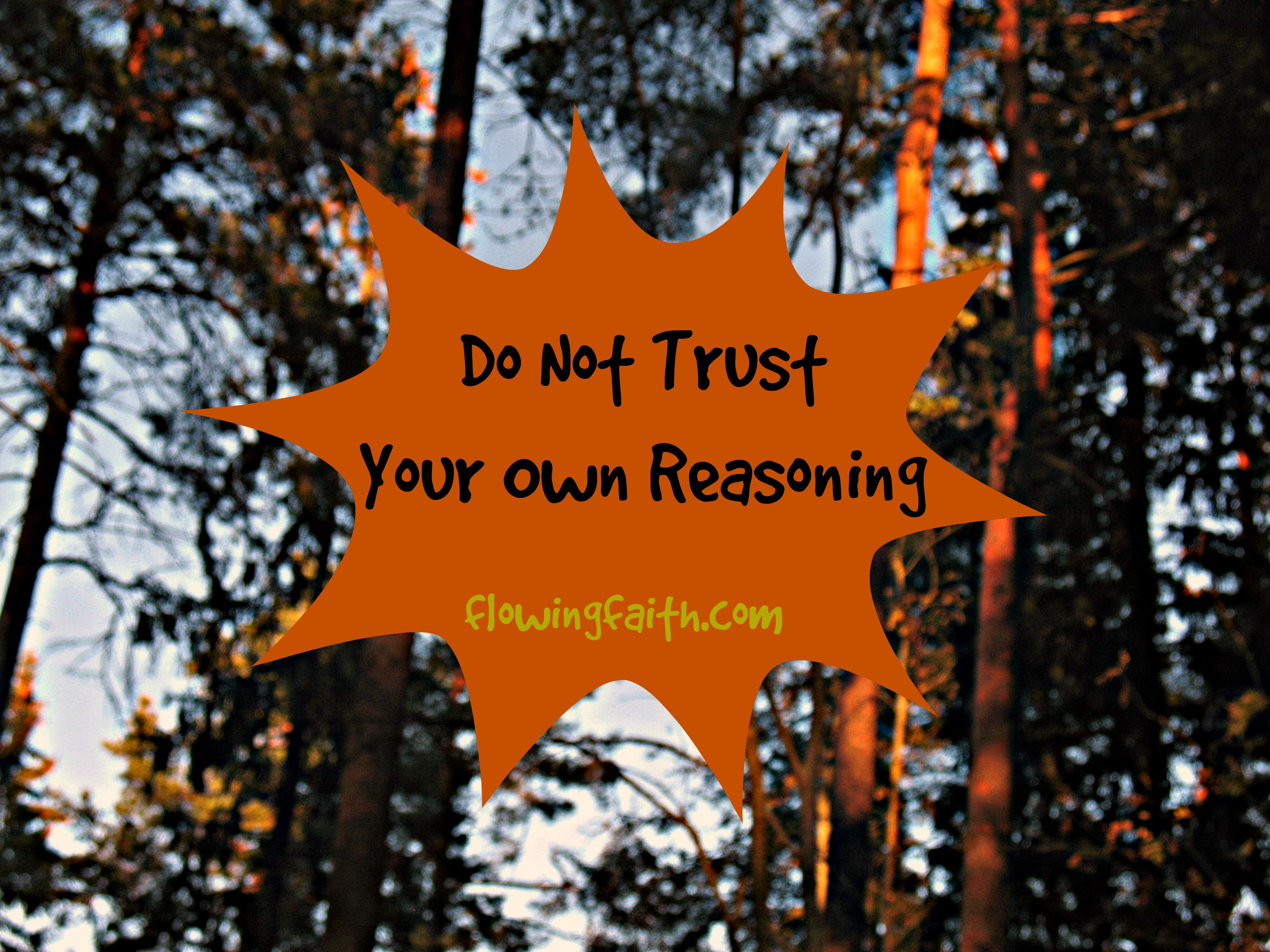 Do not trust your own reasoning